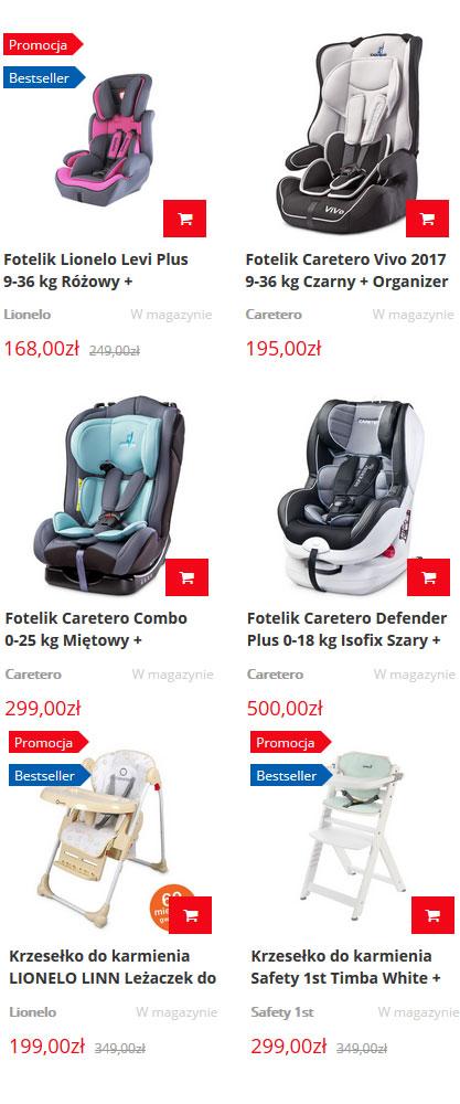 tanie foteliki samochodowe - sklep techsat24.pl